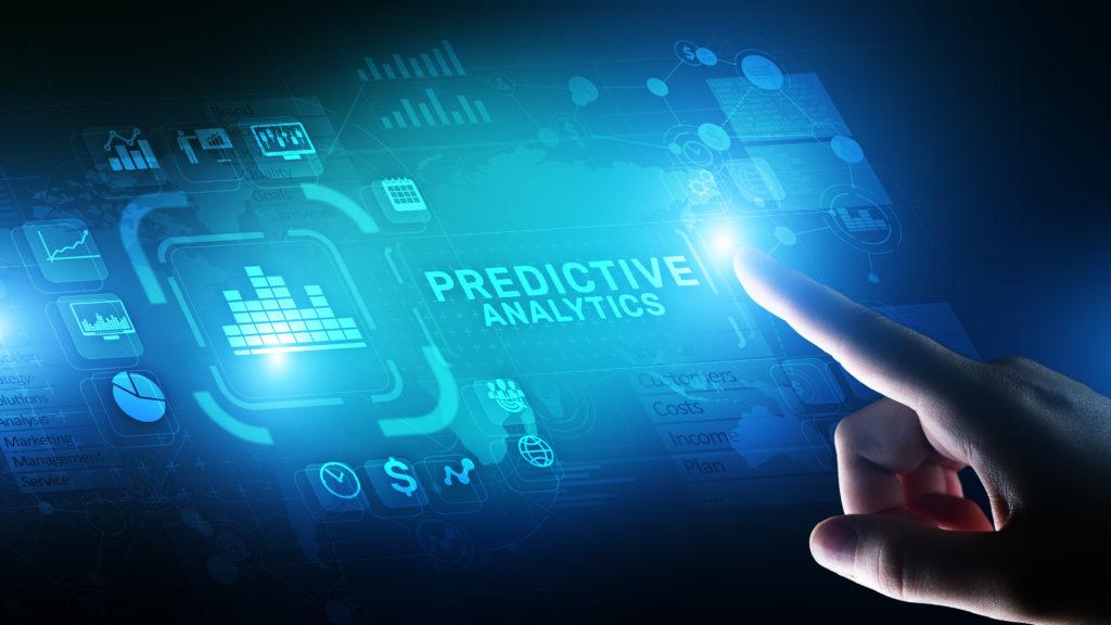 Predictive analytics Big Data analysis Business intelligence internet and modern technology concept on virtual screen